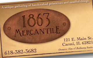 1863 Mercantile Business Card