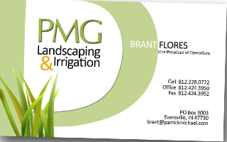 PMG Business Card Layout