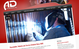 A&D Constructors Website Design