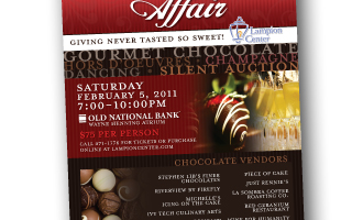 Chocolate Affair Poster Design