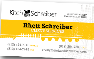 Kitch and Schreiber Business Card Design