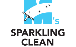 M&#8217;s Sparkling Clean Logo Design