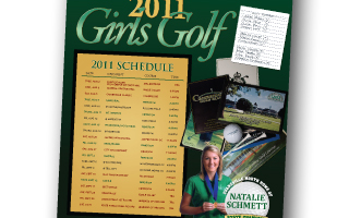North High School Girls Golf Poster