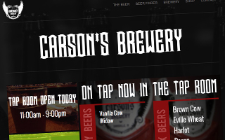 Carson's Brewery Website