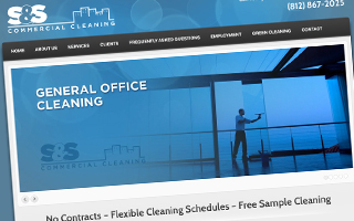 S&S Commercial Cleaning Website